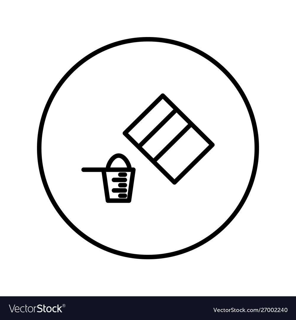 Pack powder and measuring cup icon editable