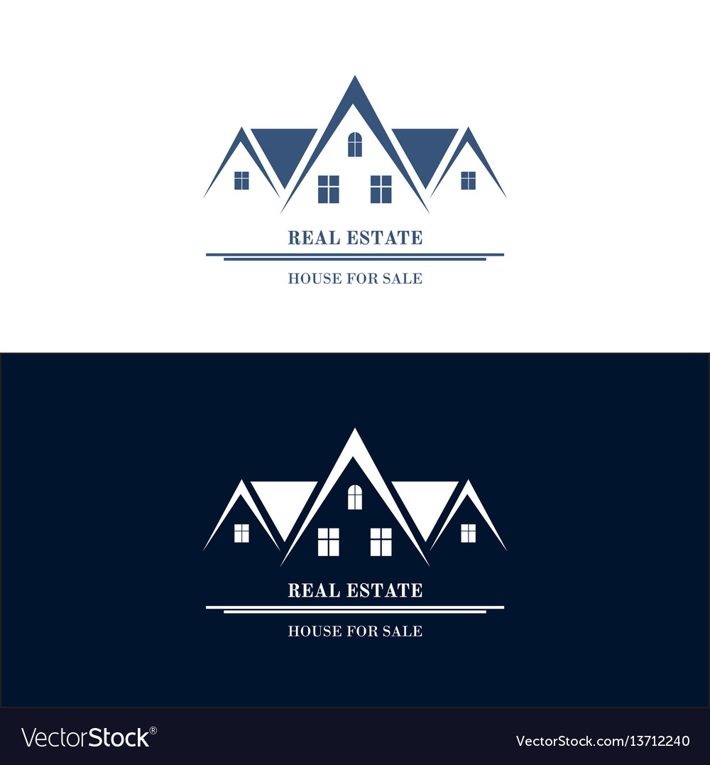 Real estate logo design house abstract concept