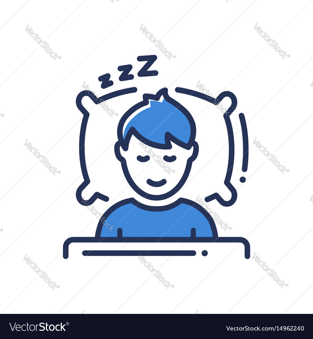 Sleep - modern single line icon