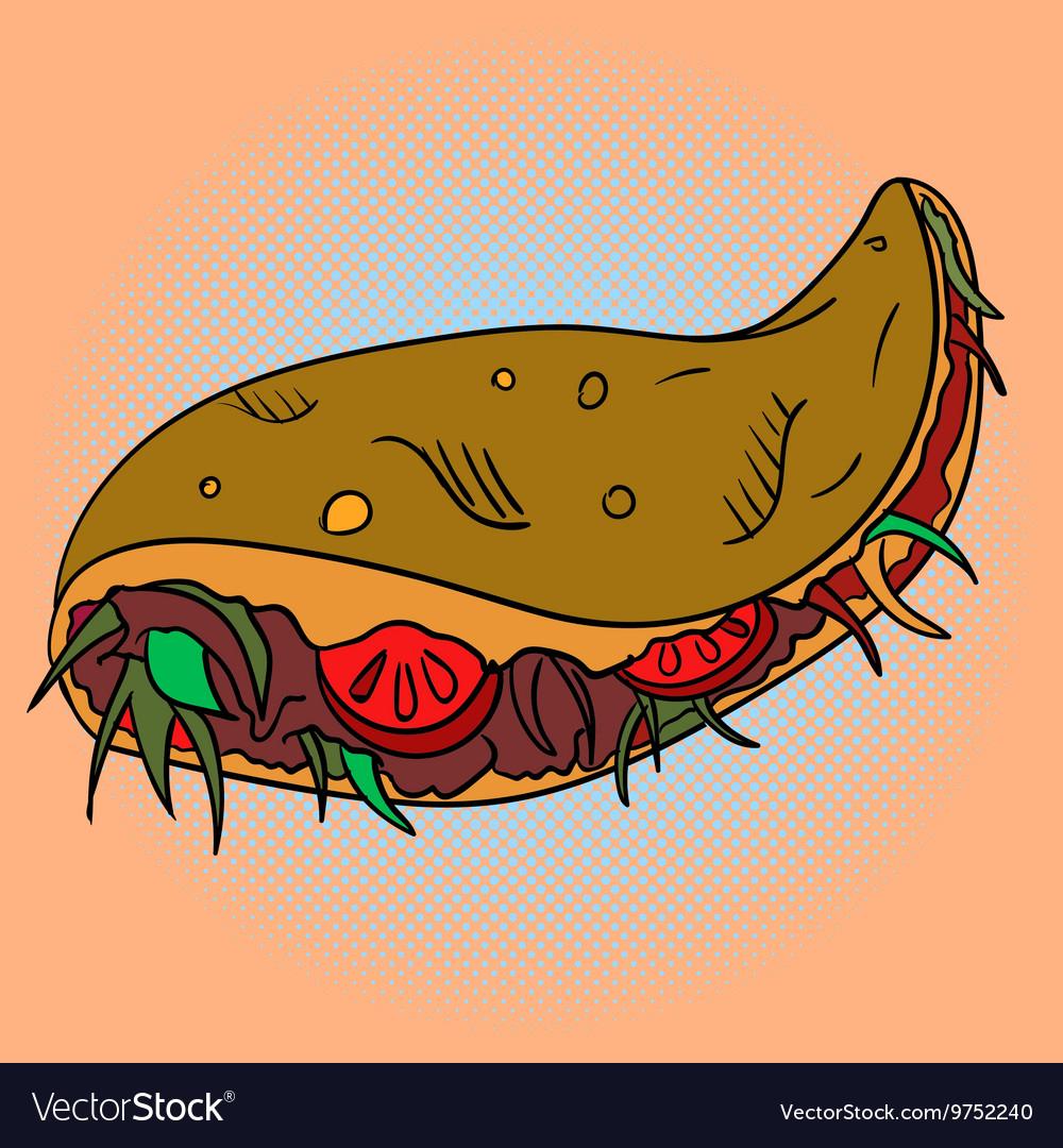Taco Pop art vector image