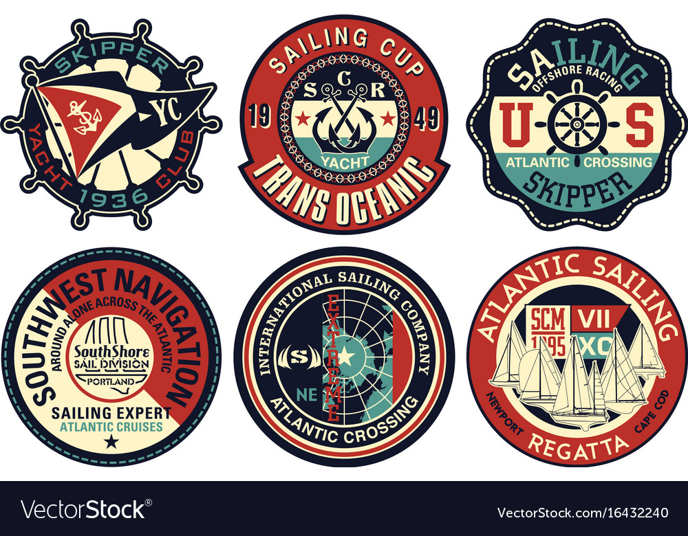Yachting sailing badges collection