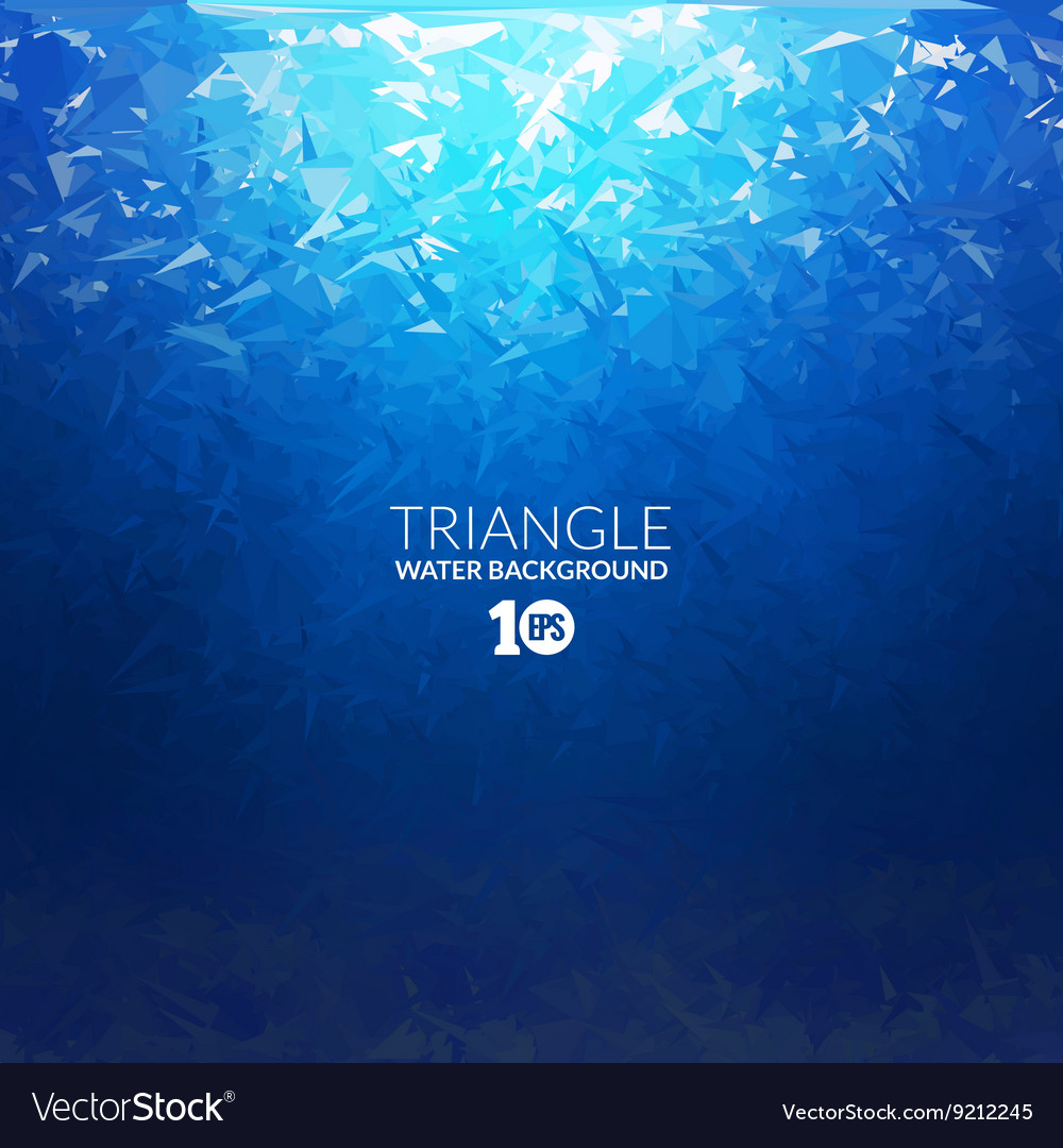 Abstract triangle underwater background vector image