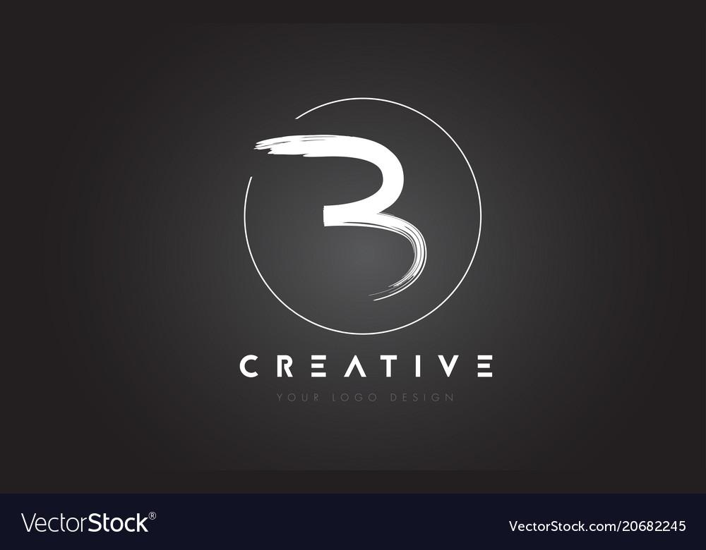 B brush letter logo design artistic handwritten
