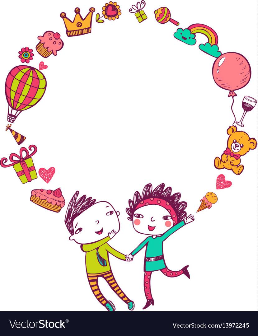 Birthday doodle frame