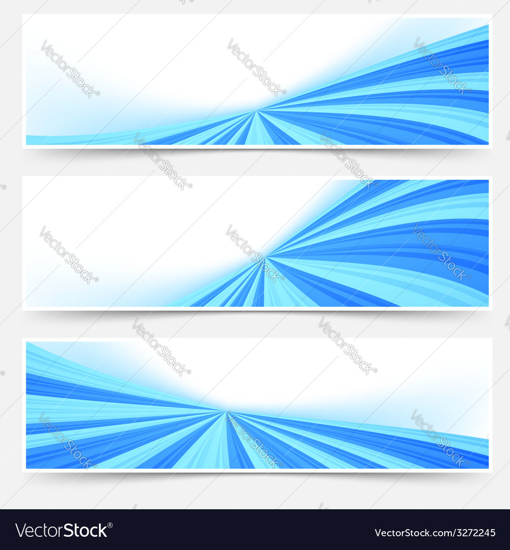 Blue stream swoosh header footer web set