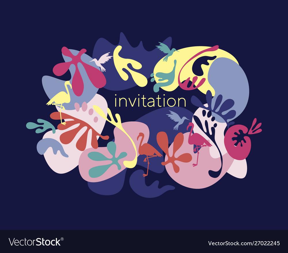 Night Invitation Template Vector Image