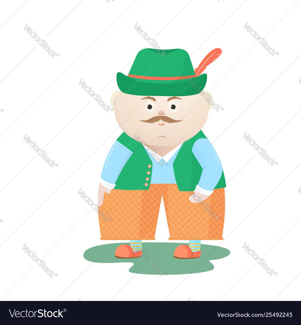 Funny oktoberfest man in a hat munich festival