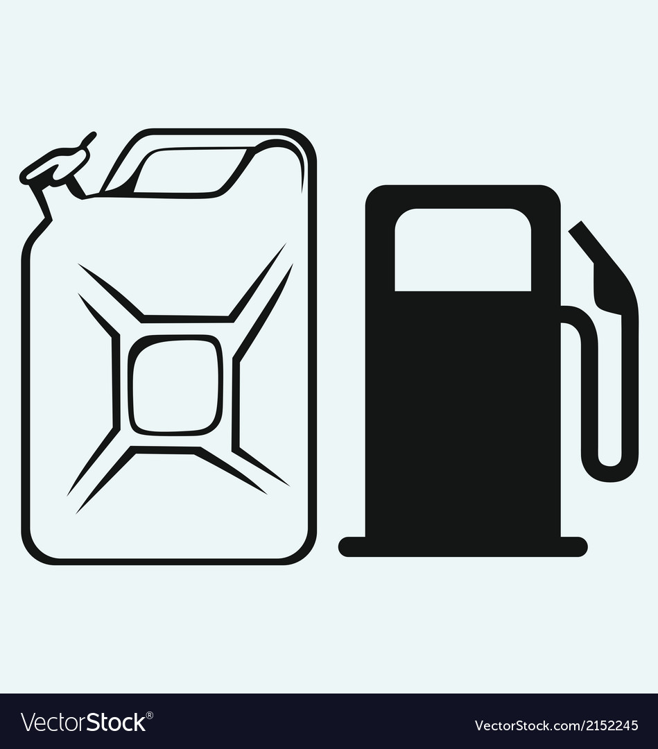 Gas station and jerrycan vector image