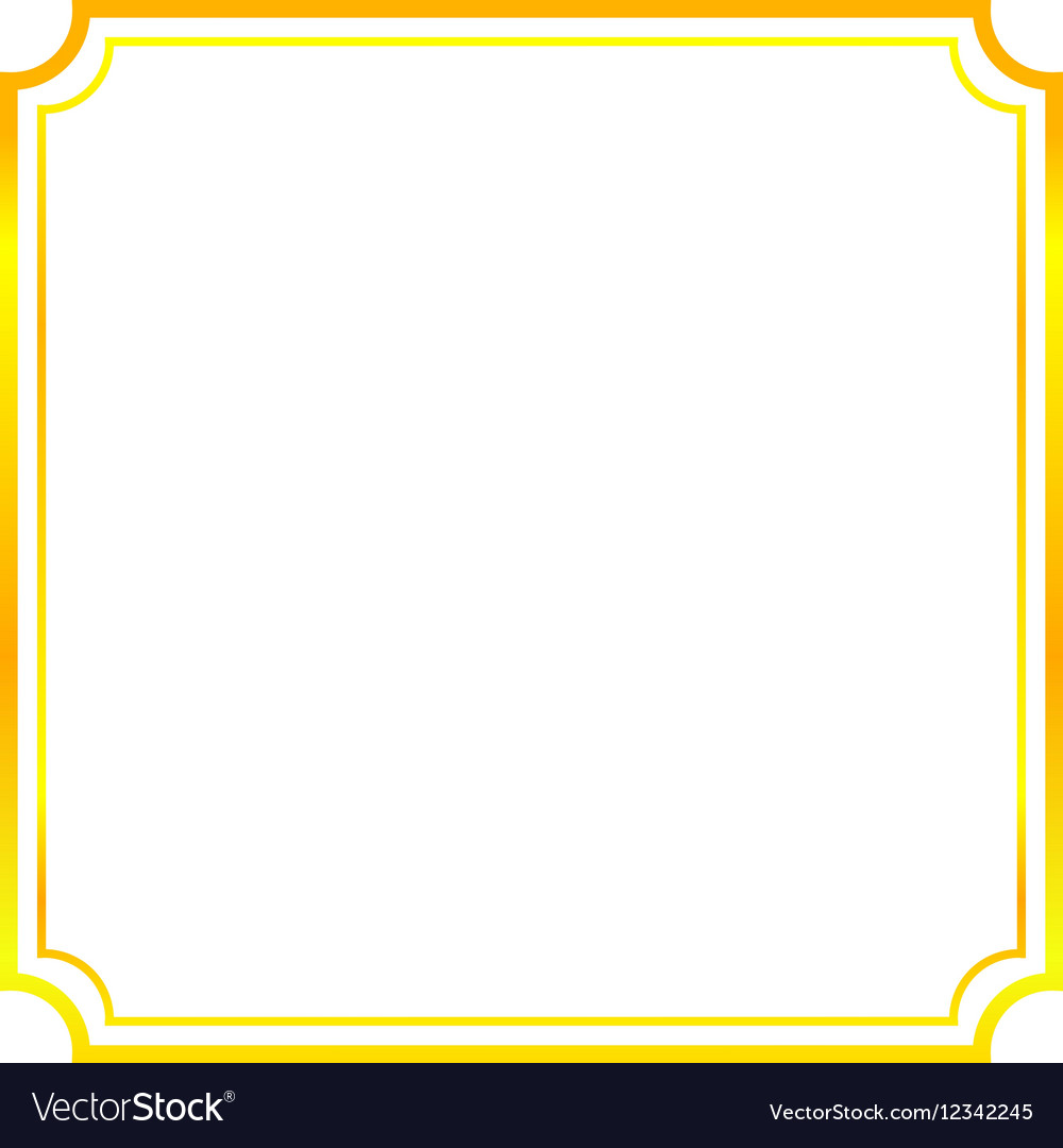 gold frame border thin gold frame beautiful simple golden design vector image