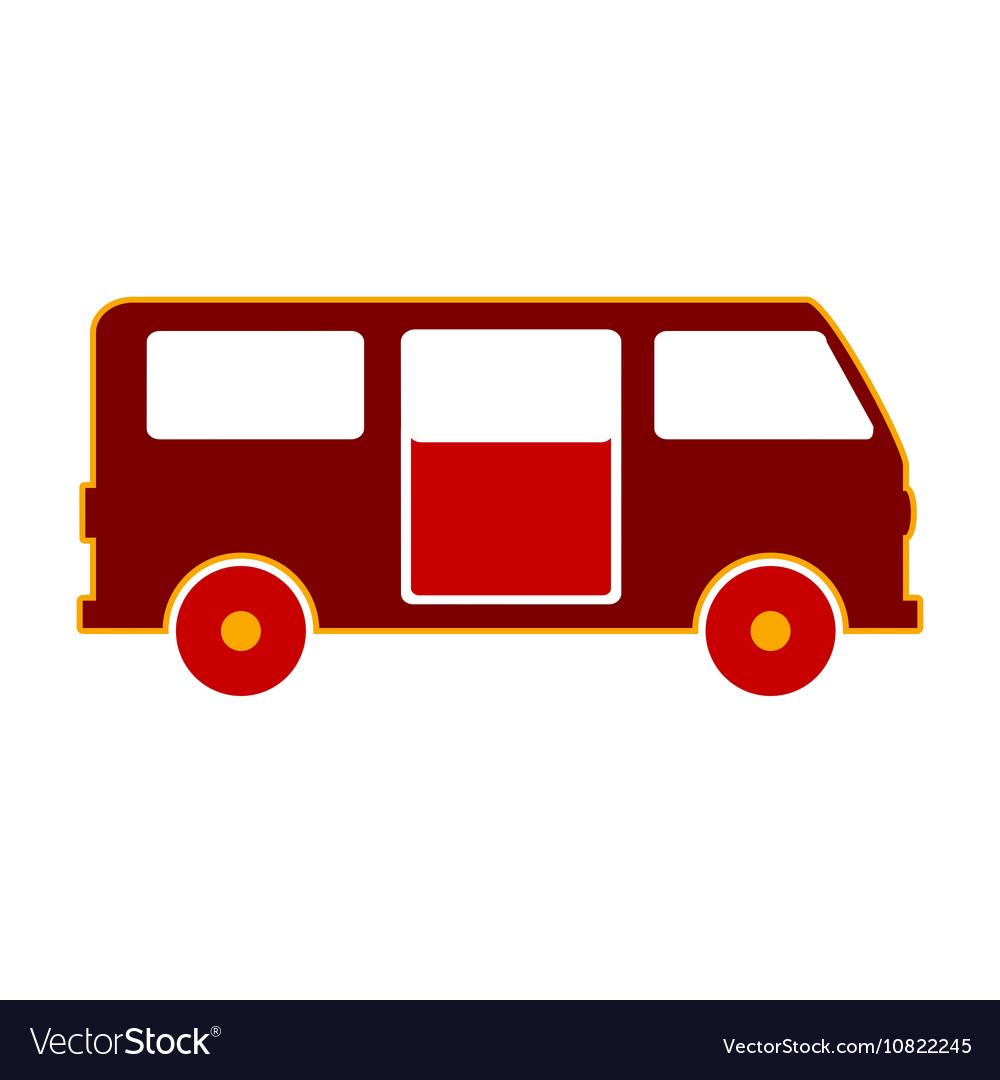 Minibus symbol icon on white