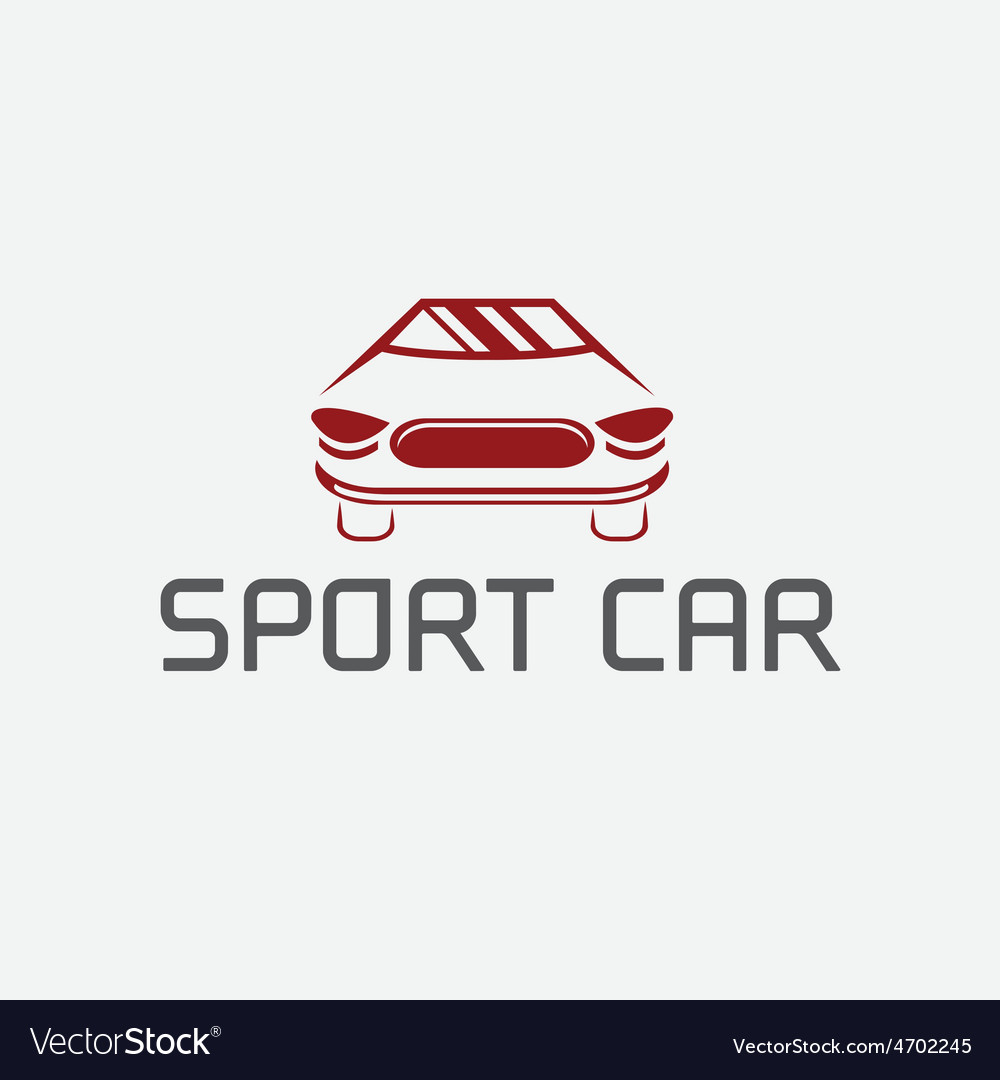 Sport car abstract design template
