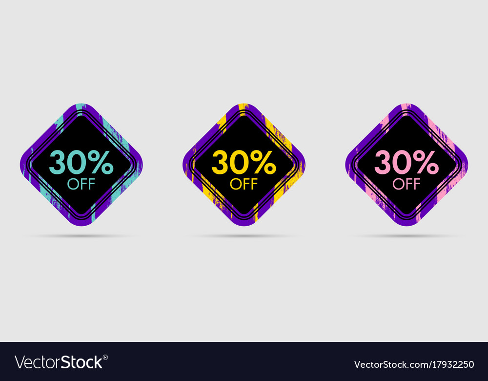 30 off discount sticker 30 off sale and discount vector image