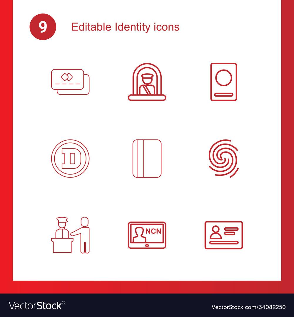 9 identity icons
