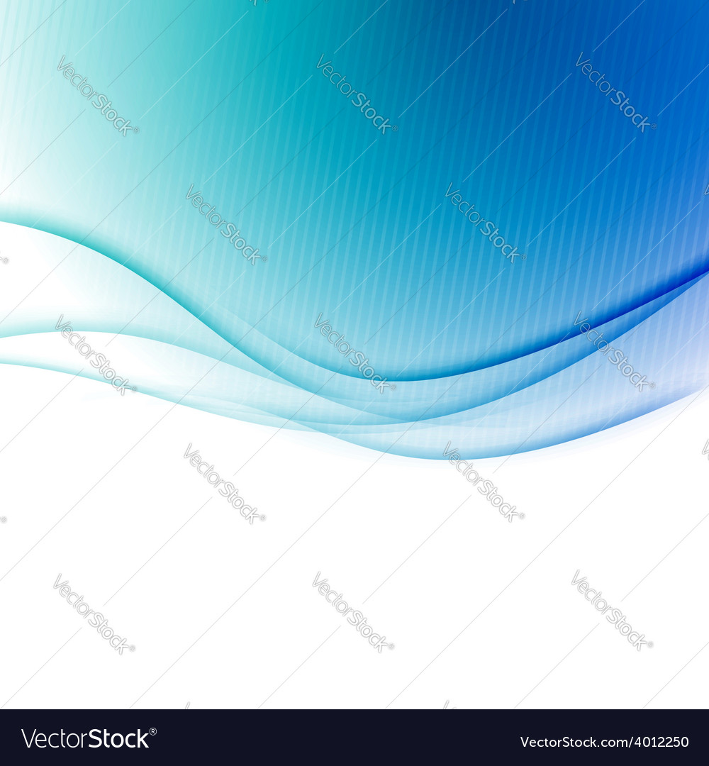 Blue swoosh border wave folder background vector image