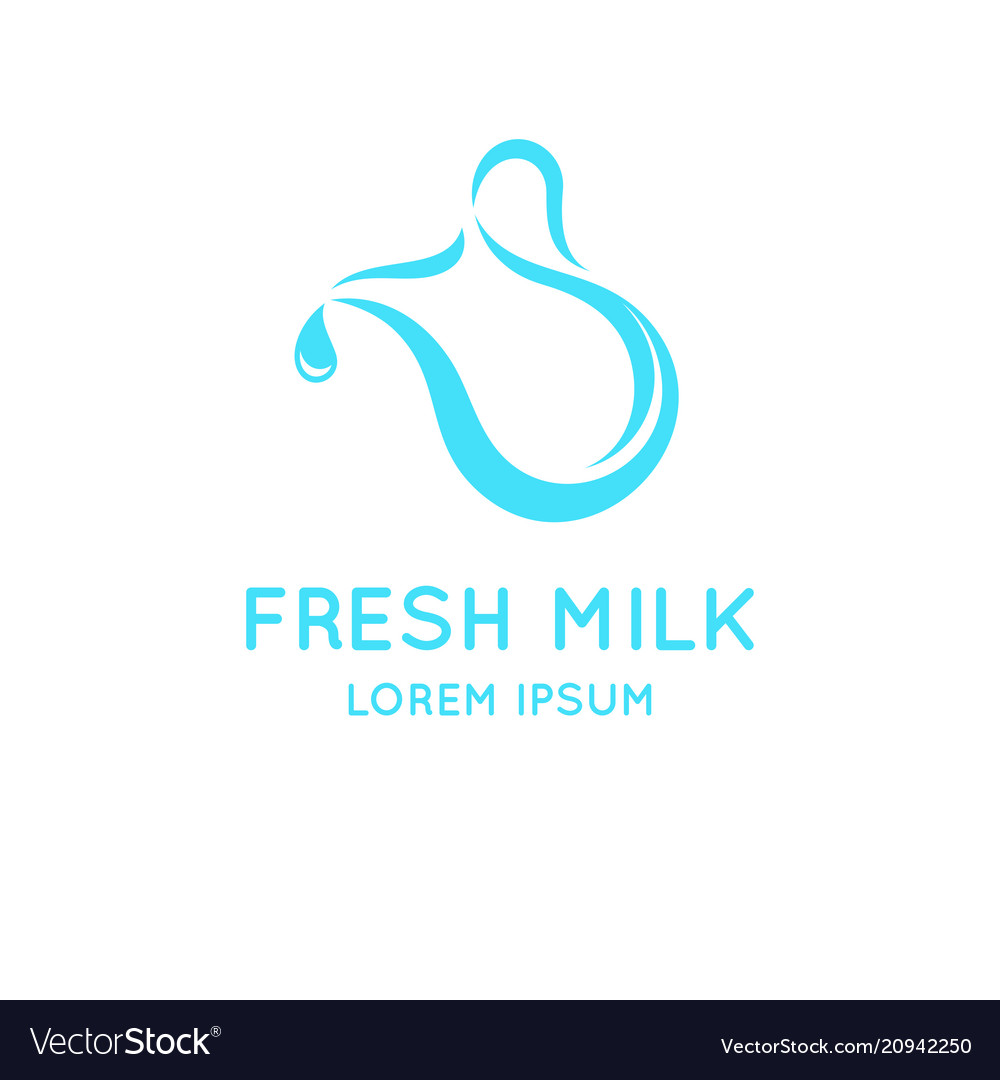 Conceptual logo for the sale of milk