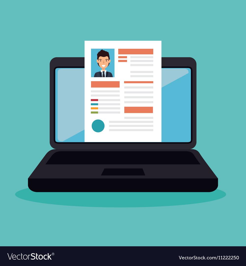 Cv recruitment online icon