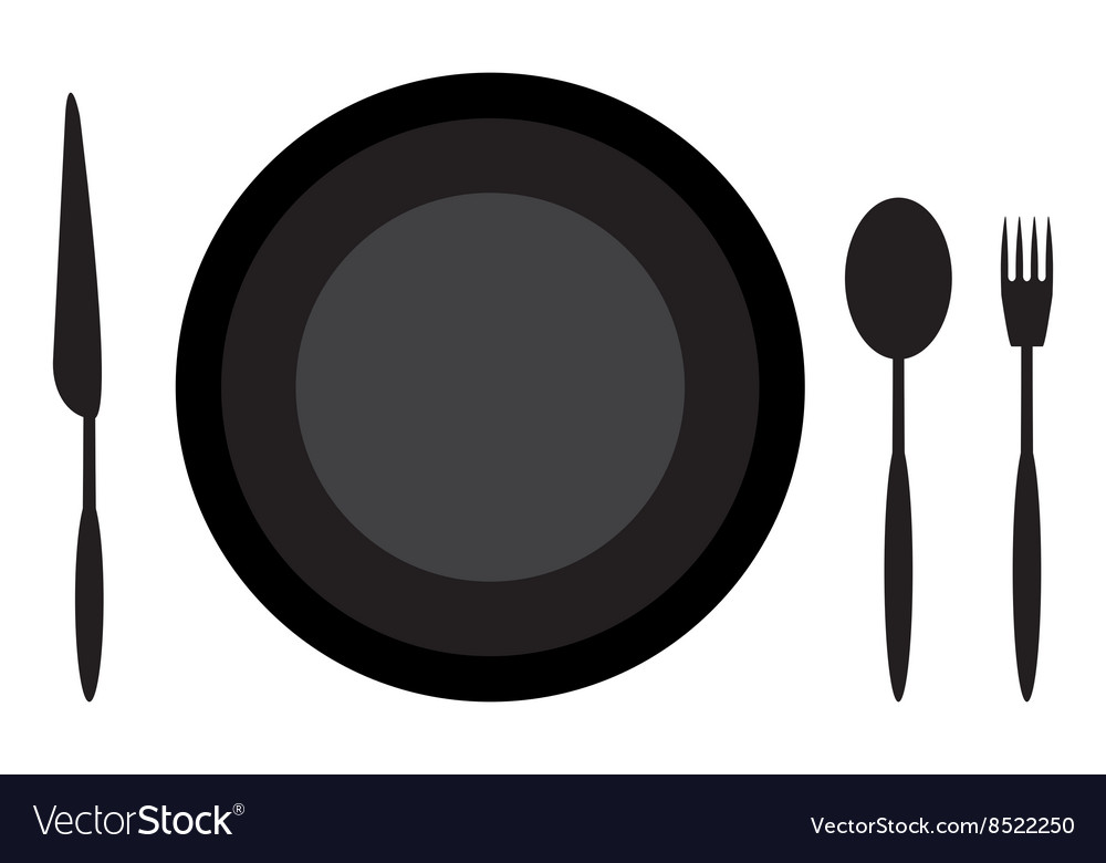 Dining etiquette plate spoon knife and fork