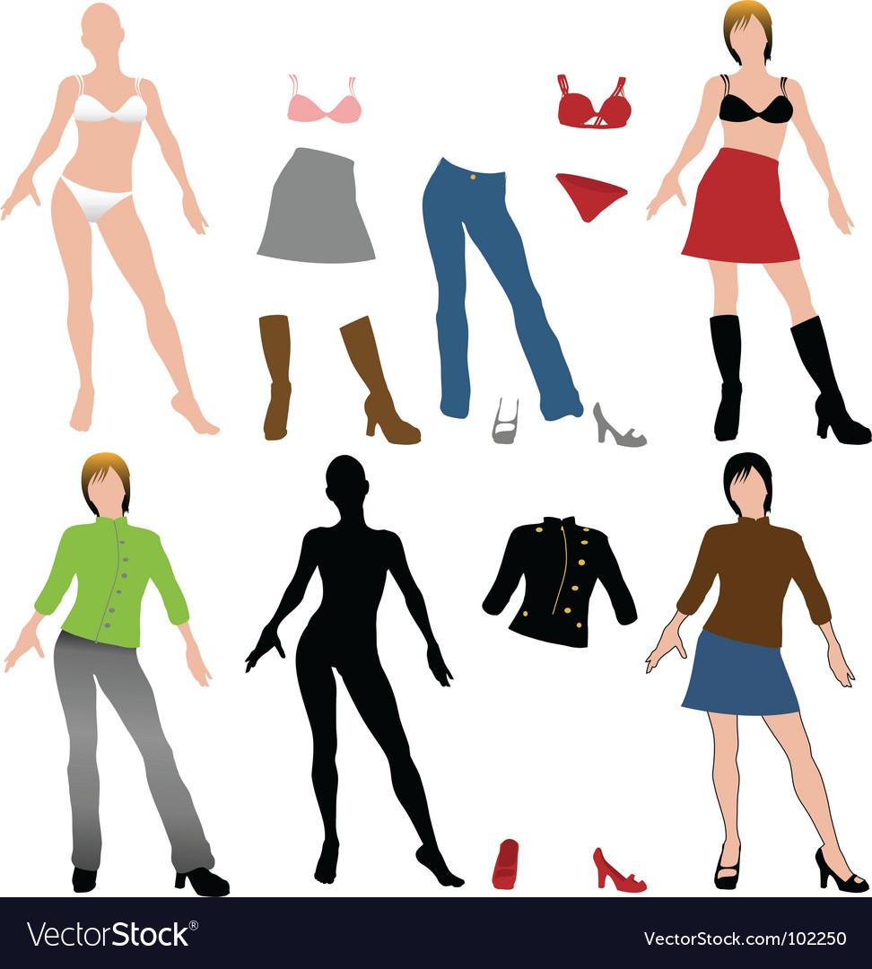 Fashion dolls vector image