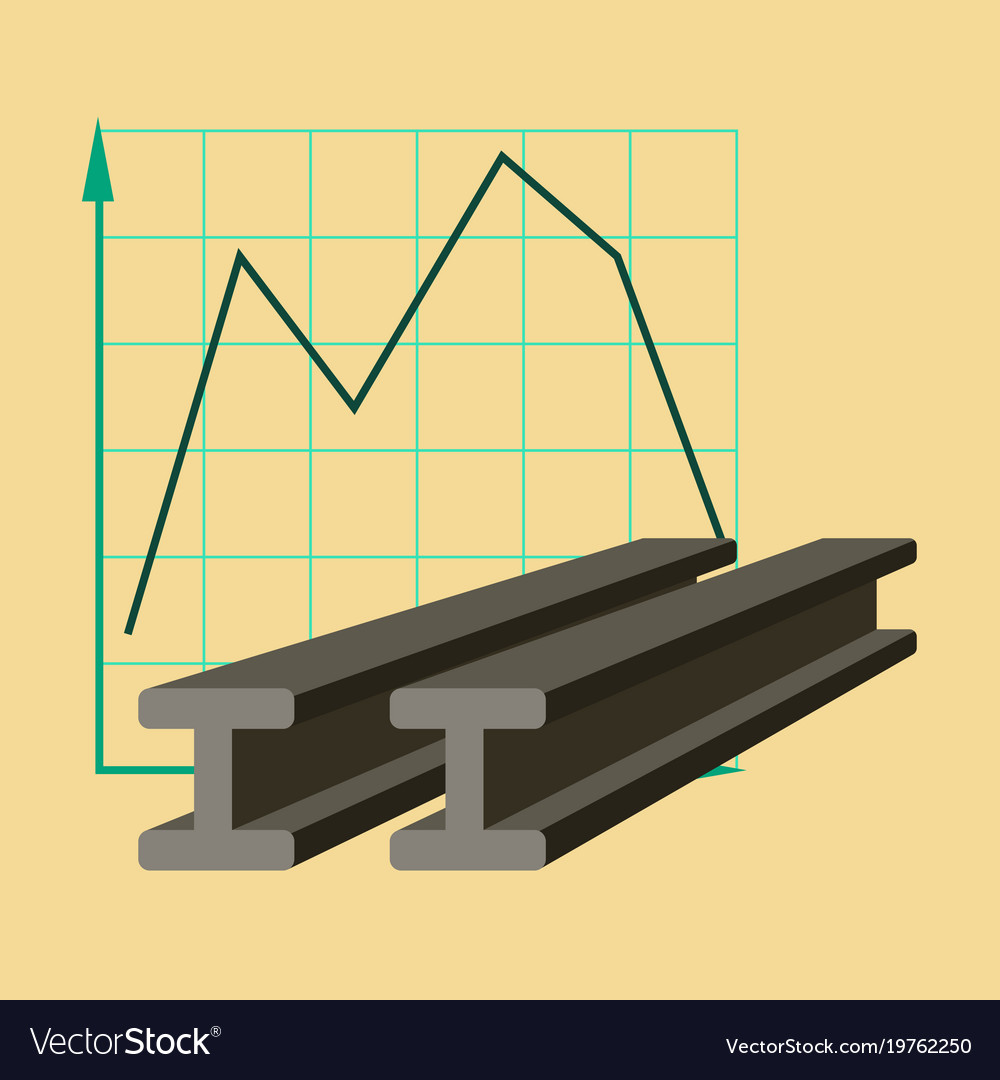Flat icon on stylish background falling graph