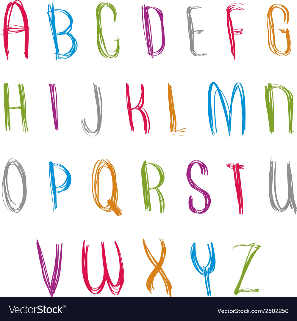 Hand written fresh font stylish drawn alphabet