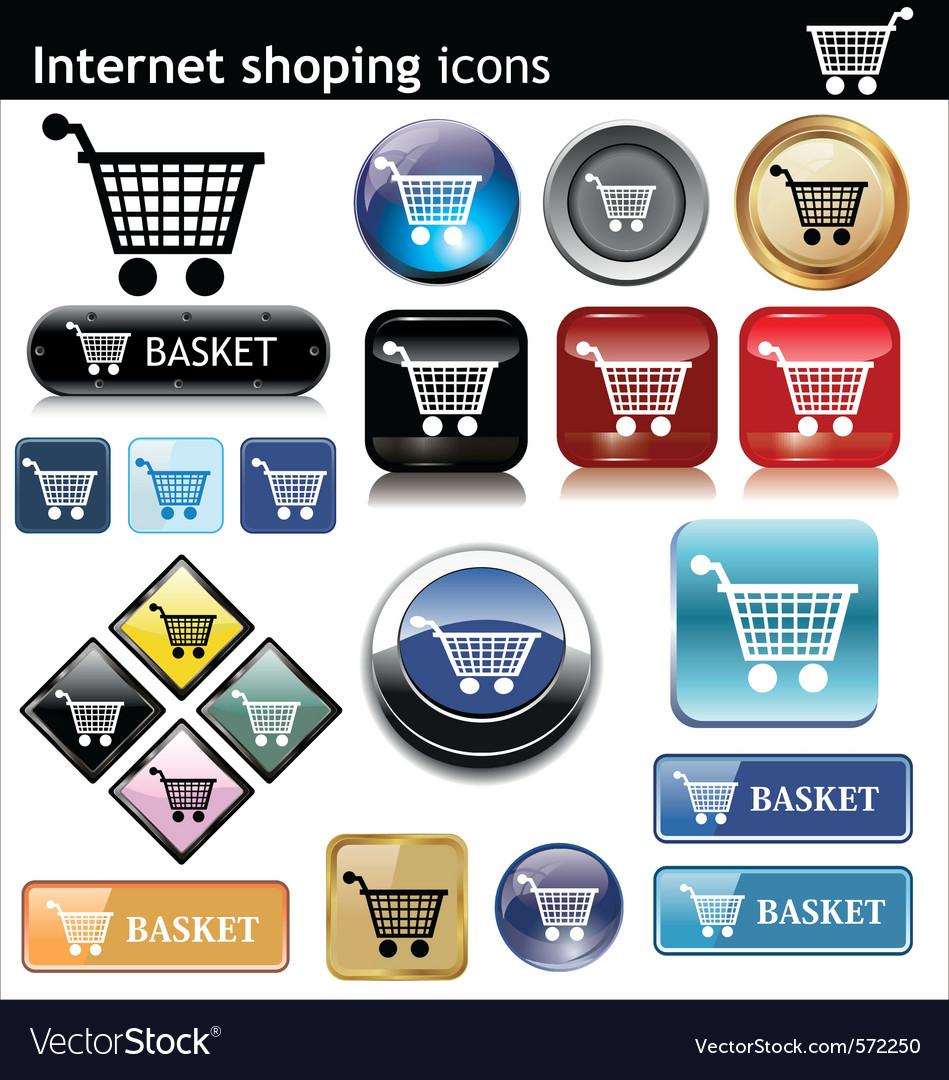 Internet shopping e commerce vector image