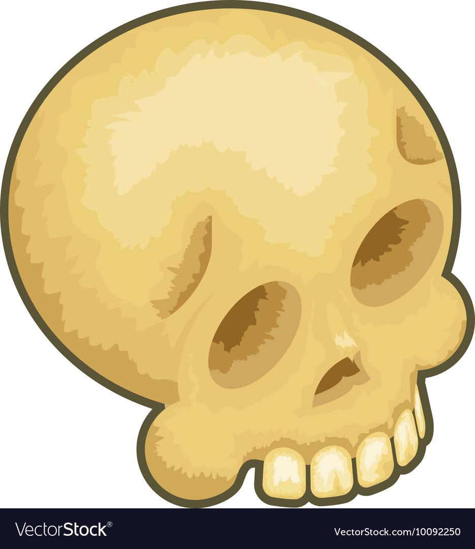 Isometric Skull Icon Symbol Isolated Cartoon 3d