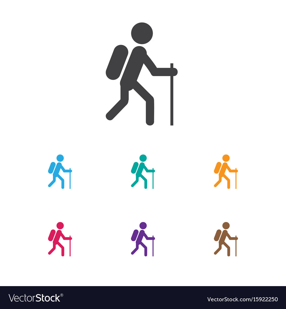 Of travel symbol on hiking vector image