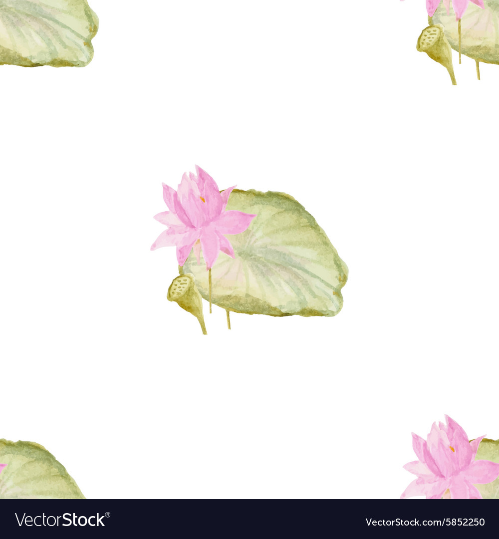 Seamless pattern with flowers lotus