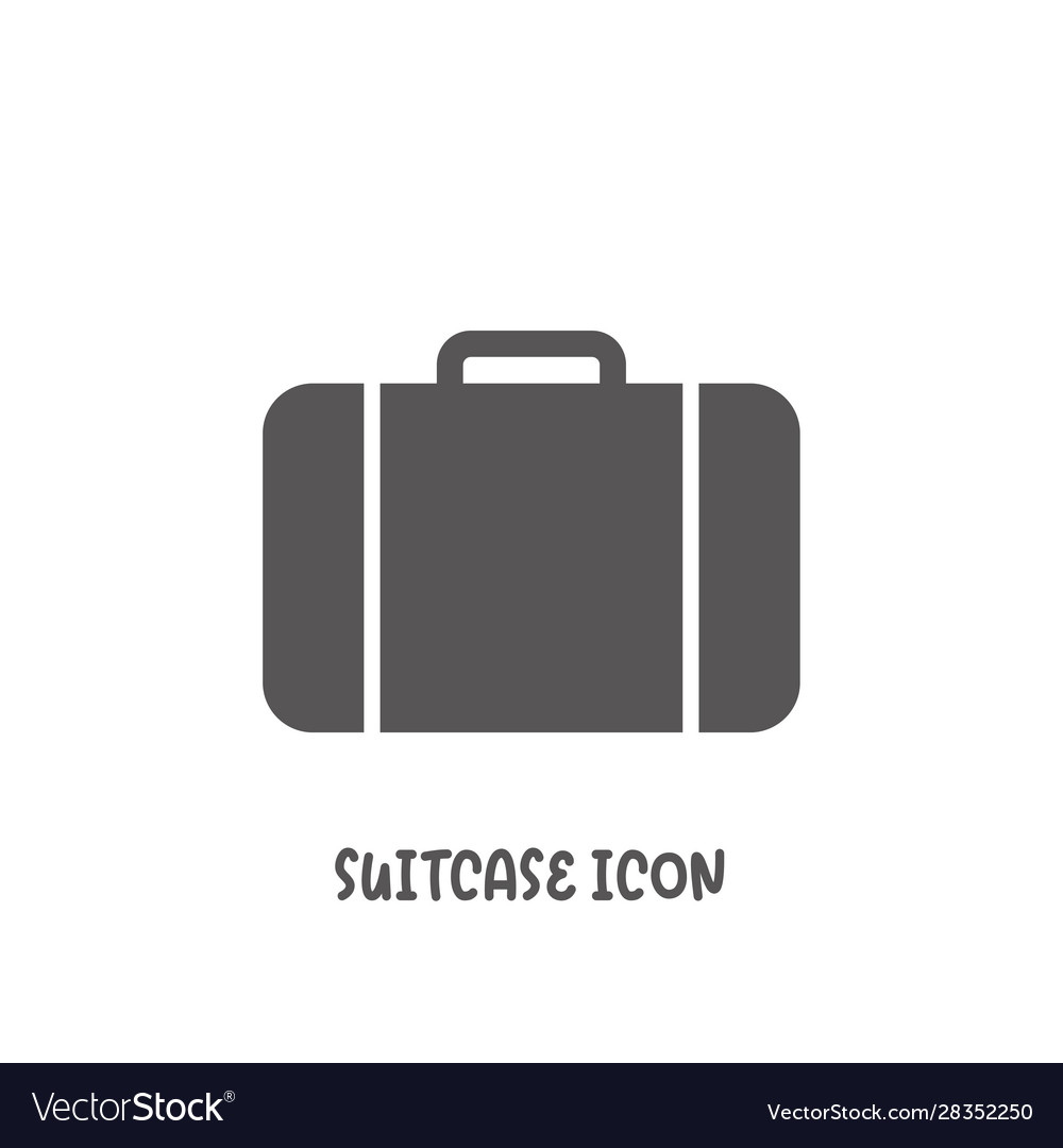 Suitcase icon simple flat style