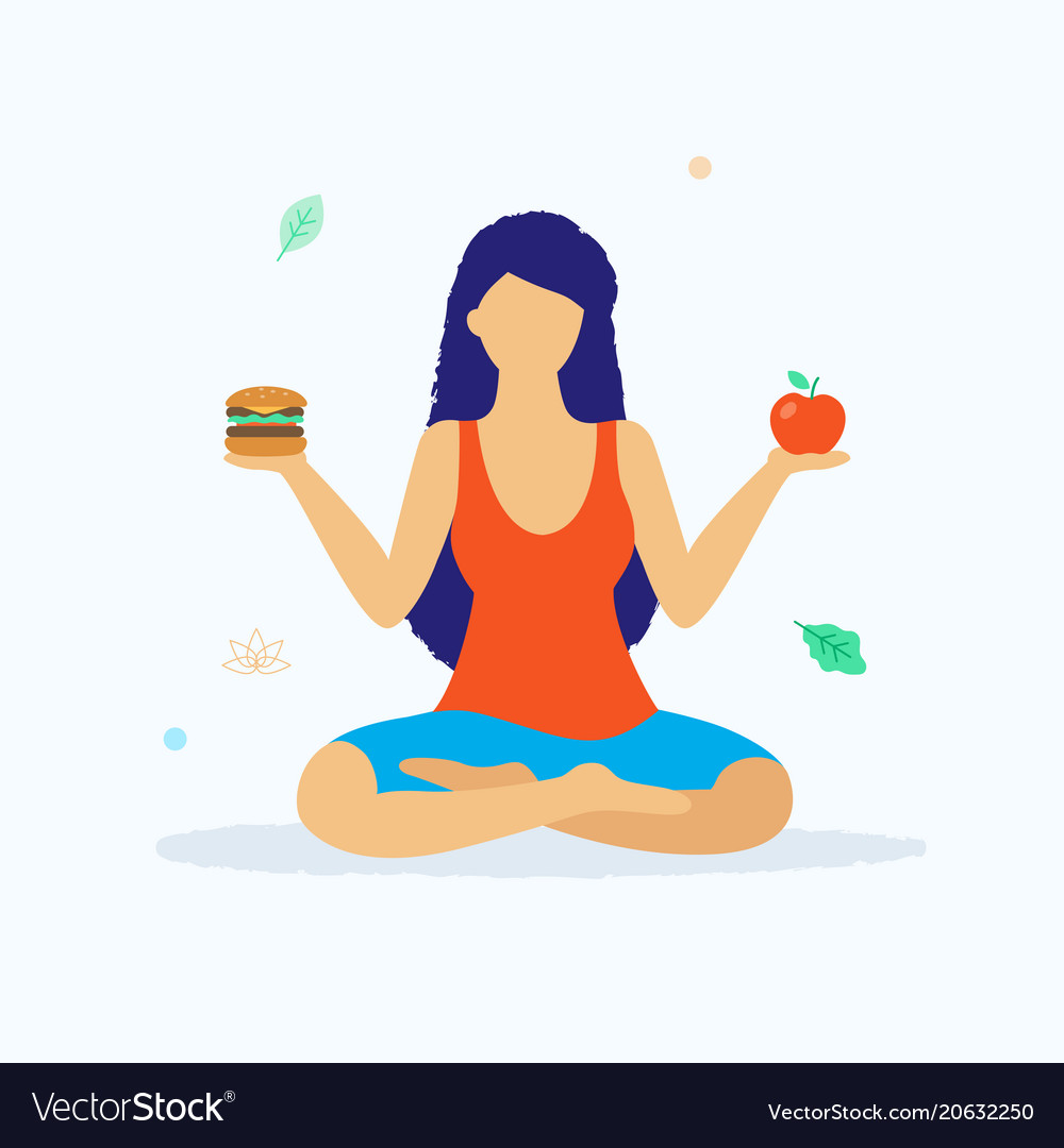 Yoga And Healthy Lifestyle Concept Royalty Free Vector Image