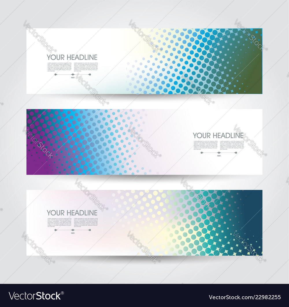 Abstract design templates banners flyers and