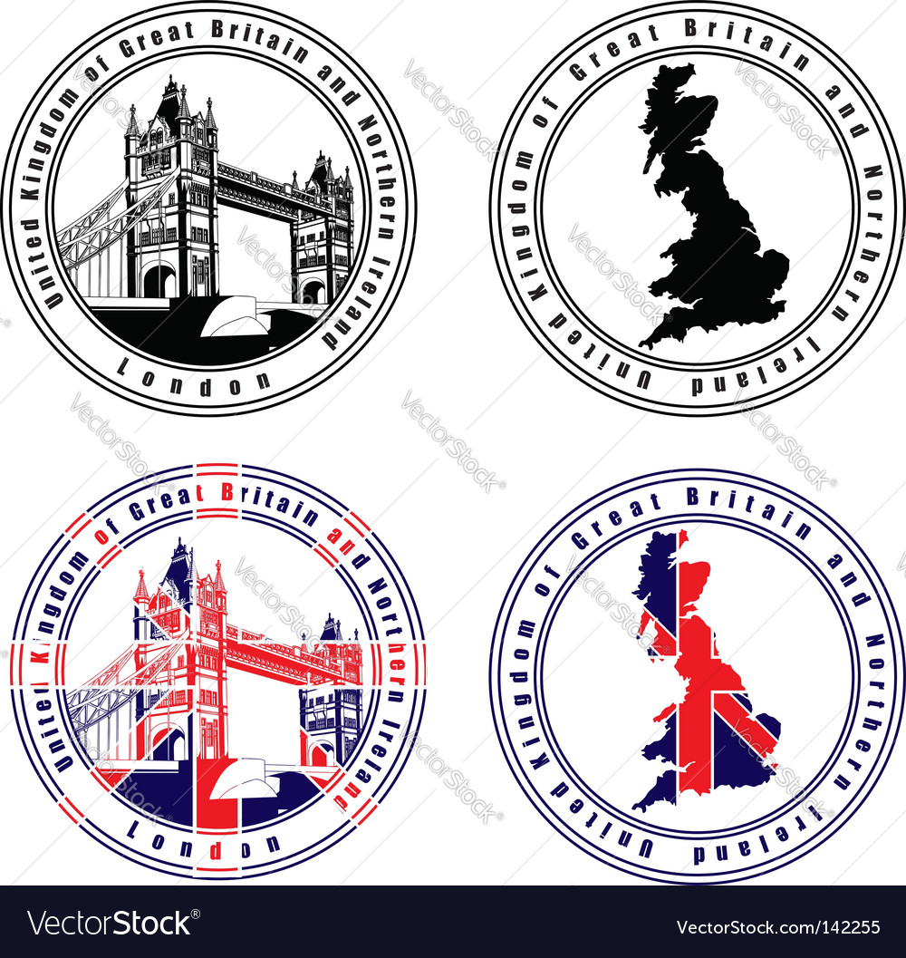 English stamp vector image