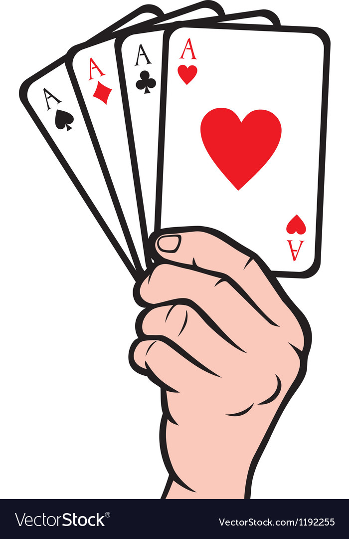 hand holding playing card gambling royalty free vector image rh vectorstock com playing card vector design playing card vector free download