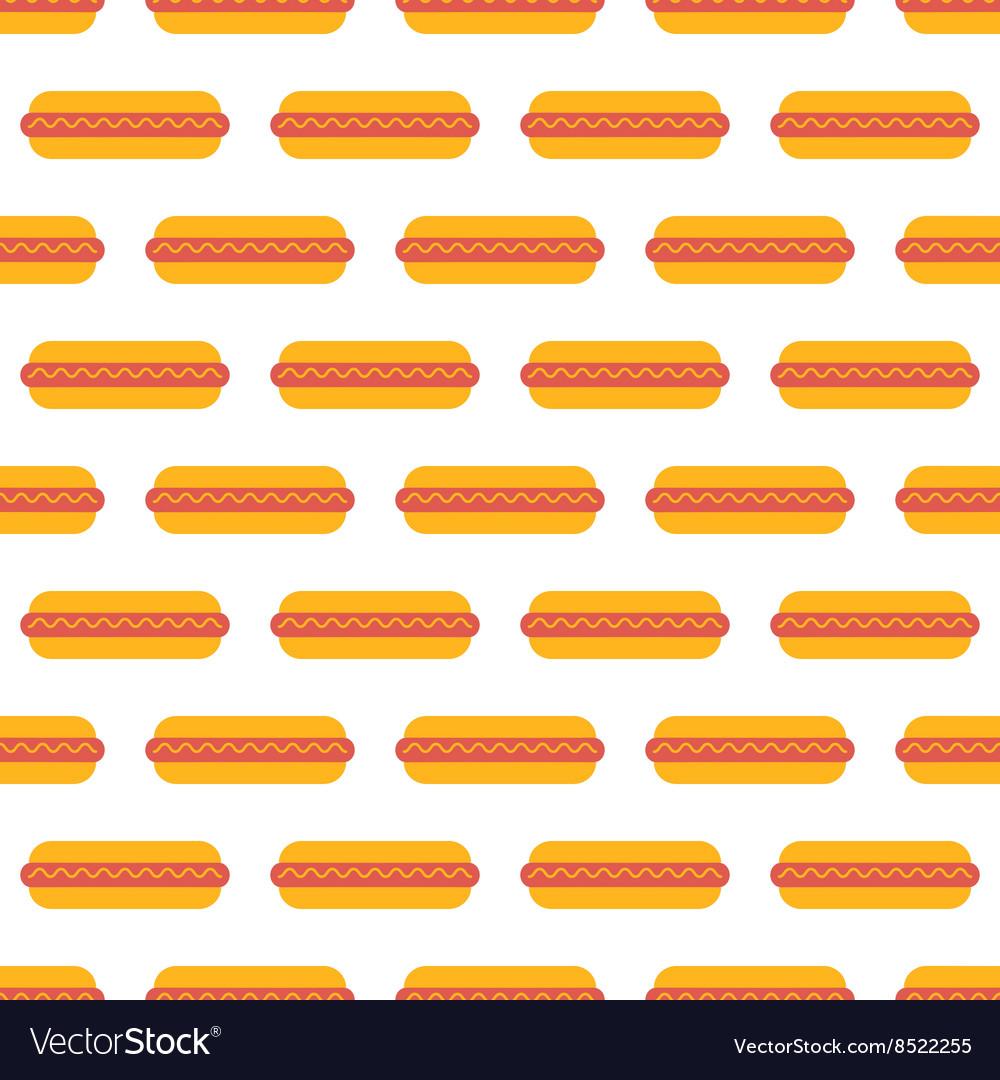 Hot dog pattern seamless