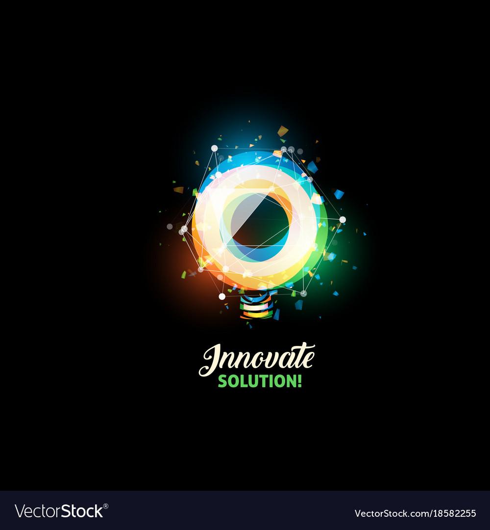 Innovate solution logo light bulb abstract