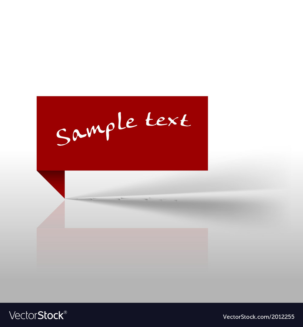 Tag red vector image