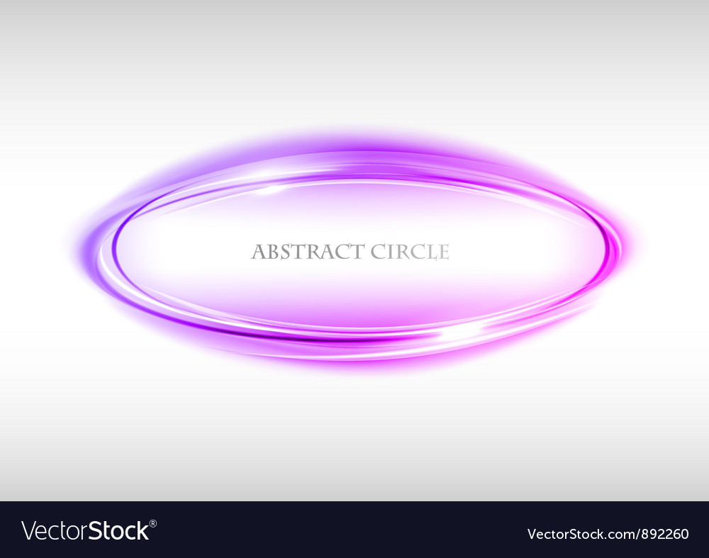 Abstract circle on white purple vector image