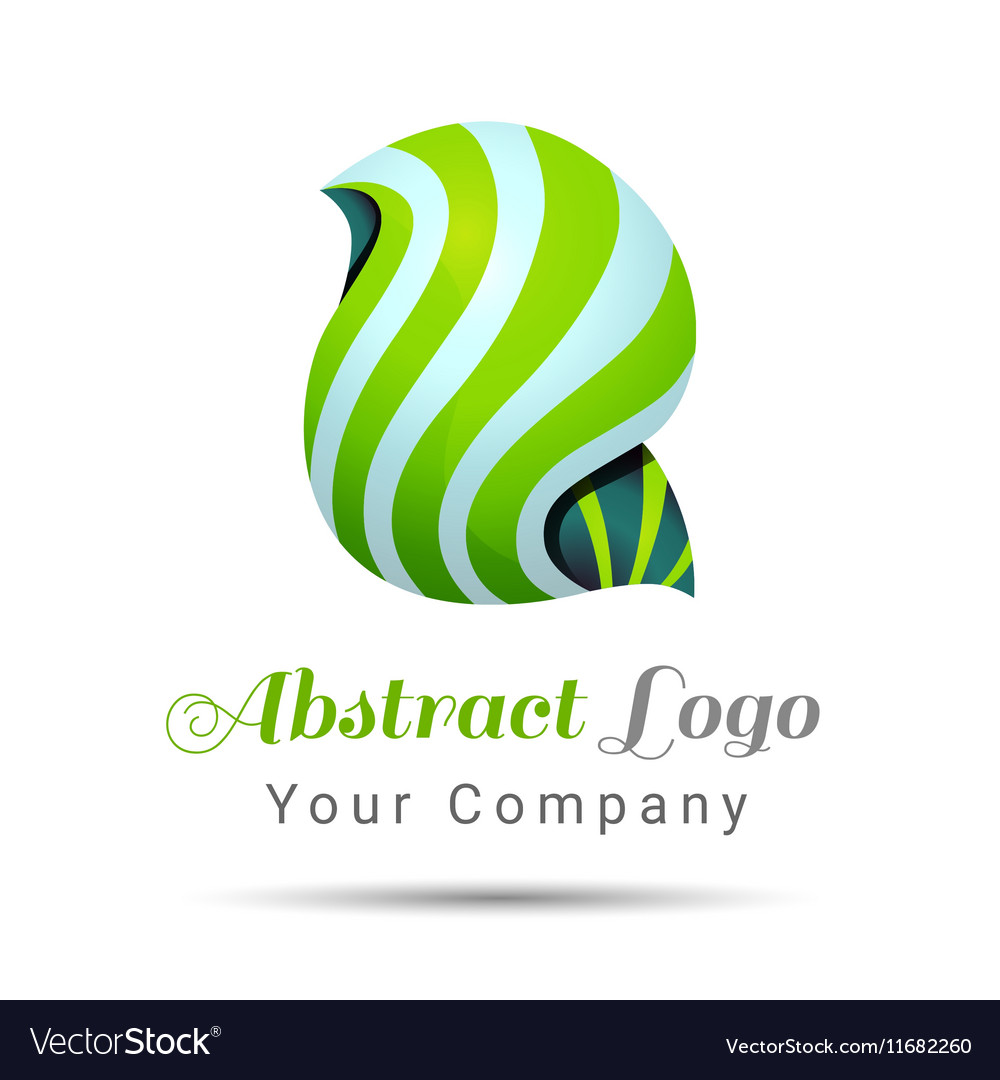 Abstract Volume Logo Colorful 3d Design Corporate