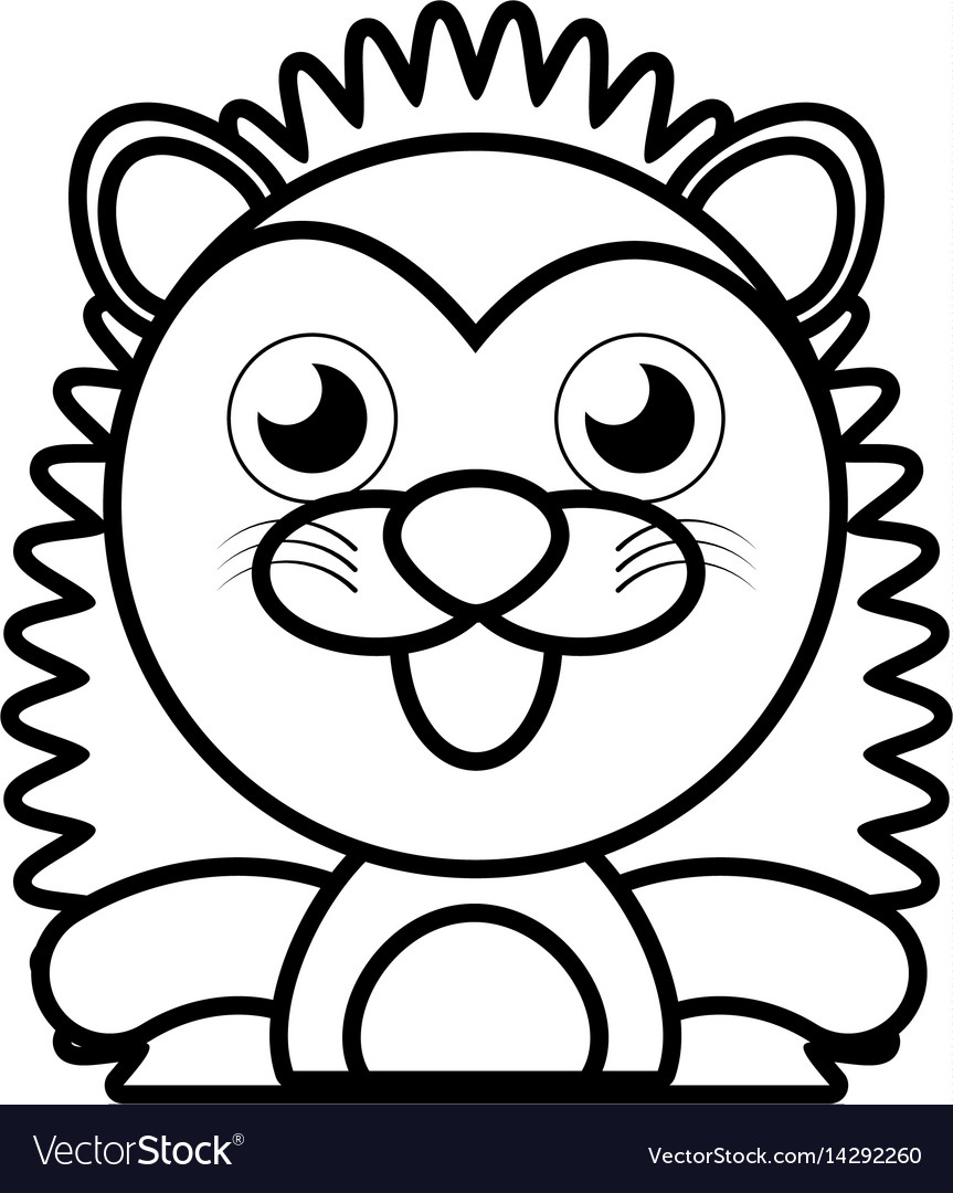 Porcupine animal toy outline