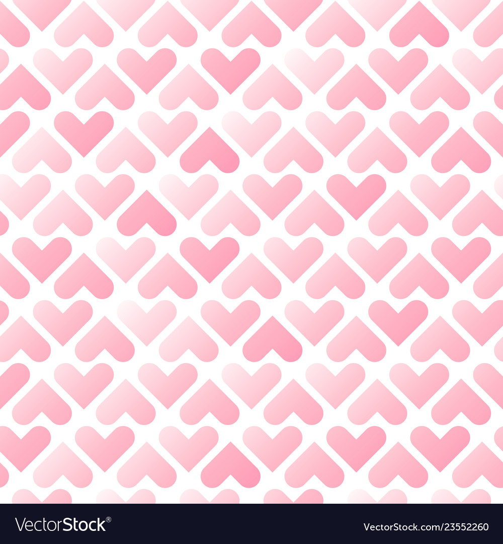 Romantic pink hearts seamless pattern valentines