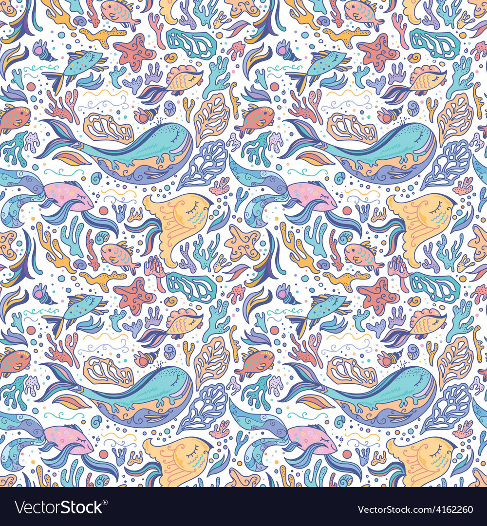 Sea sketch pattern