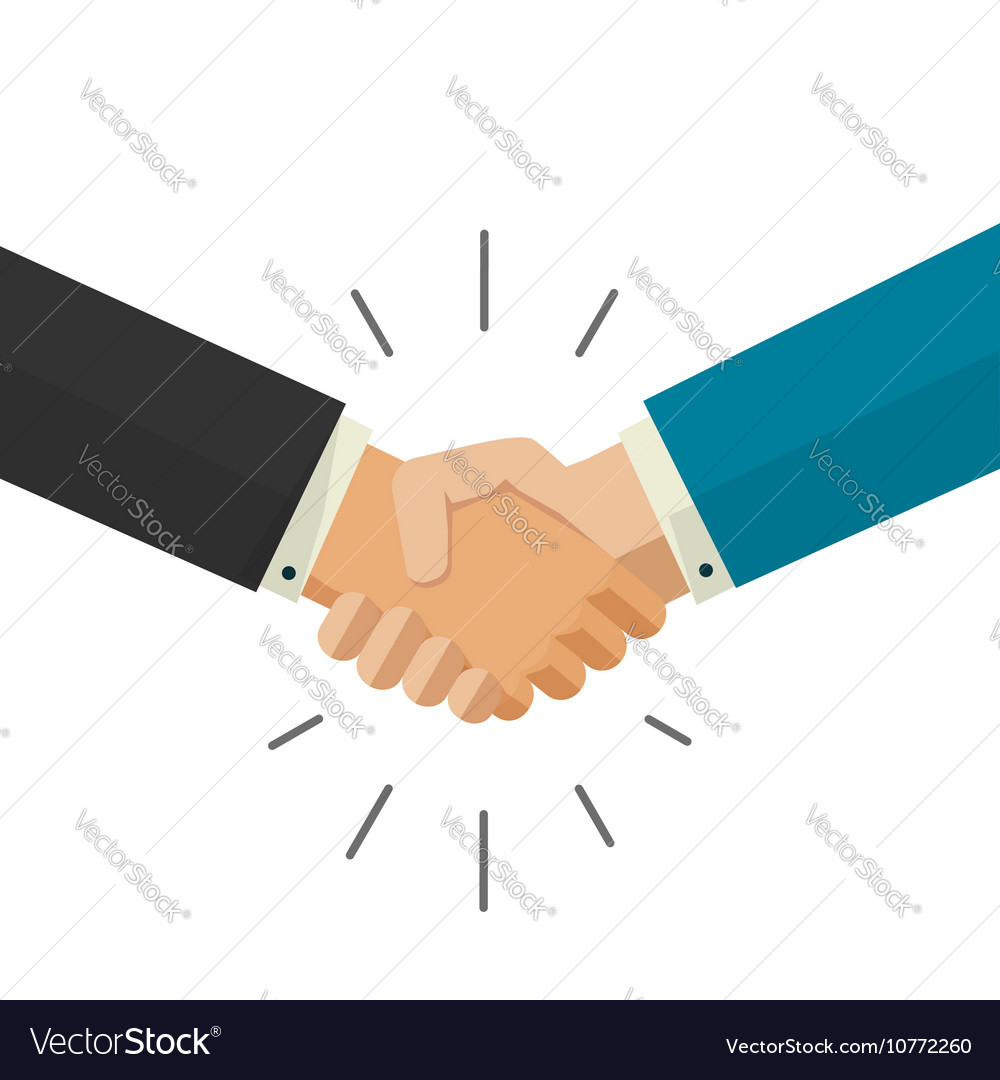 shaking hands business royalty free vector image