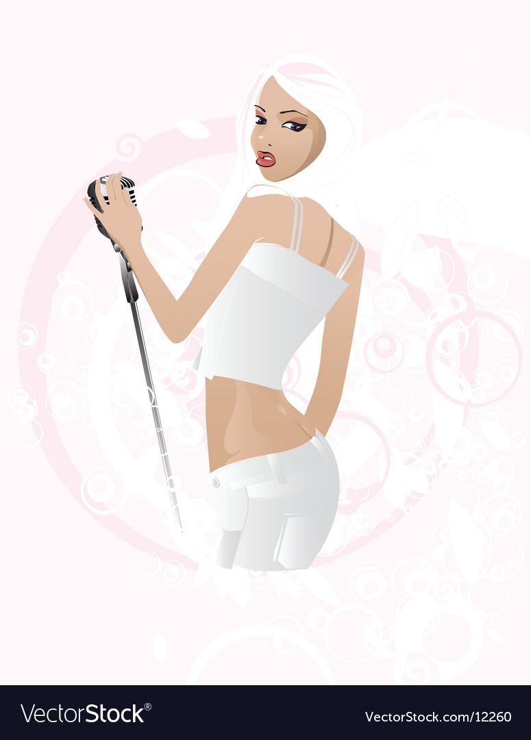 Singer illustration vector image
