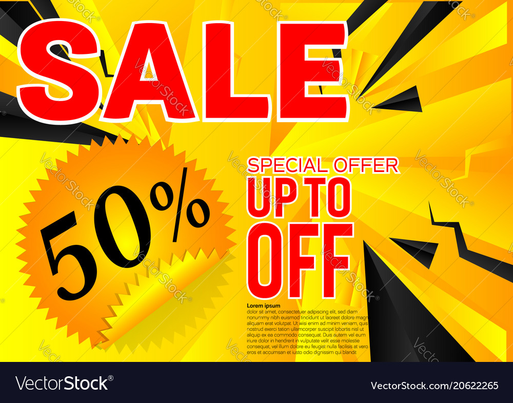 Banner sale special offer abstract black and