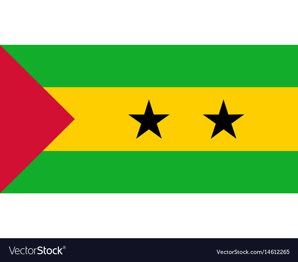 Colored flag of sao tome and principe vector image
