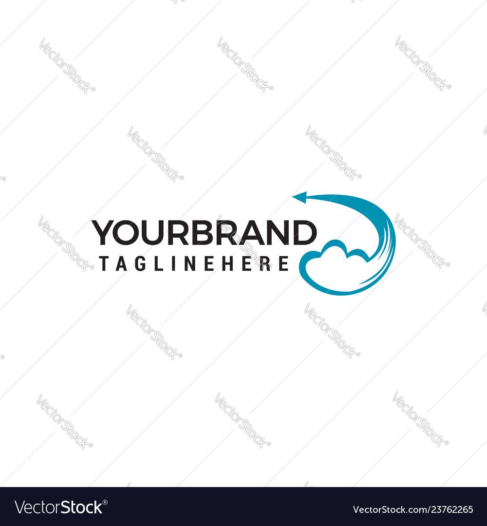 Creative cloud logo design icon