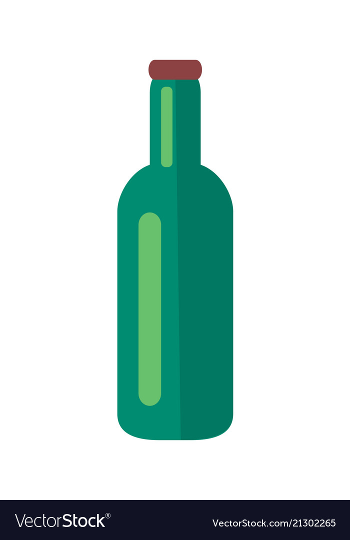 Glass bottle of beer isolated