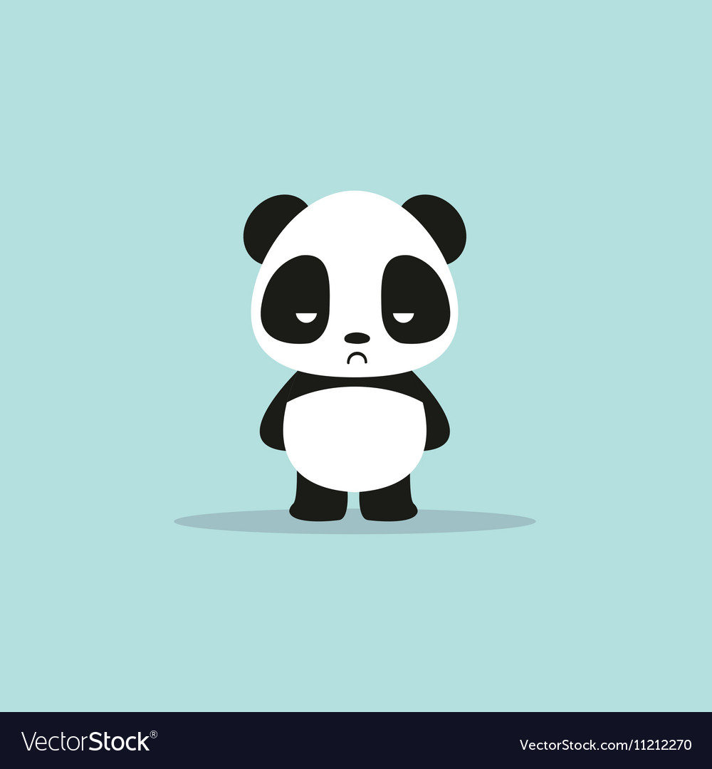 abstract cute panda royalty free vector image vectorstock rh vectorstock com panda vector png panda vector free download