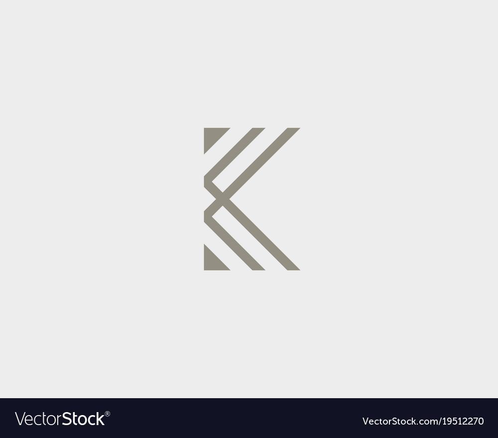 Abstract Letter K Logo Design Linear Elegant