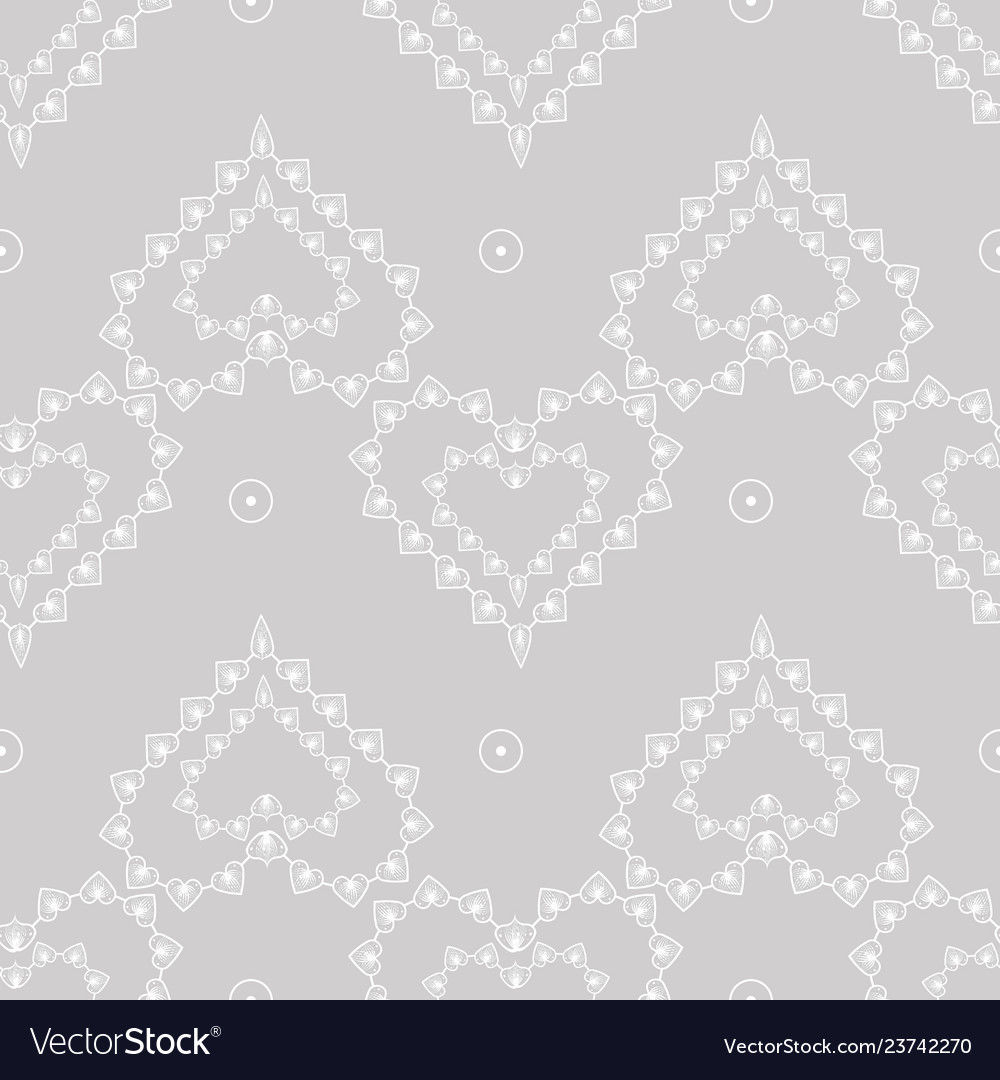 Cute delicate abstract seamless pattern of lace